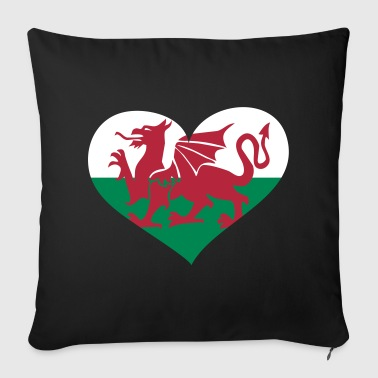 Wales Herz; Heart Wales - Sofa pillow cover 44 x 44 cm