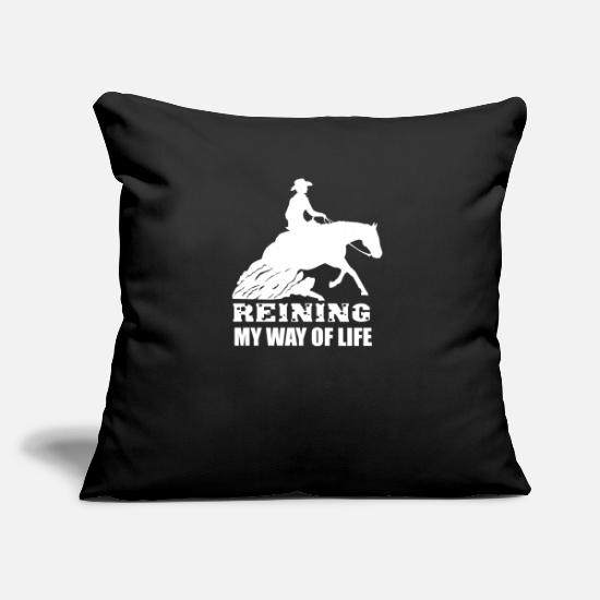 Funny Shirts With Horse Motifs Pillow Cases - Reining - Sliding stop - Pillowcase 17,3'' x 17,3'' (45 x 45 cm) black