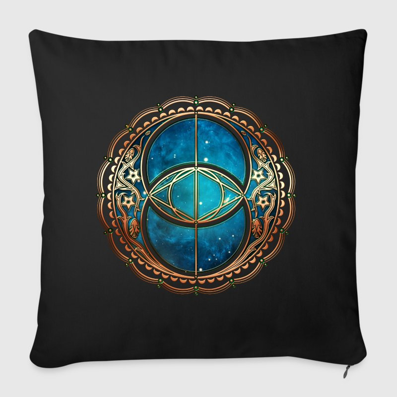 Vesica Piscis, Chalice Well, Sacred Geometry space - Sofa pillow cover 44 x 44 cm