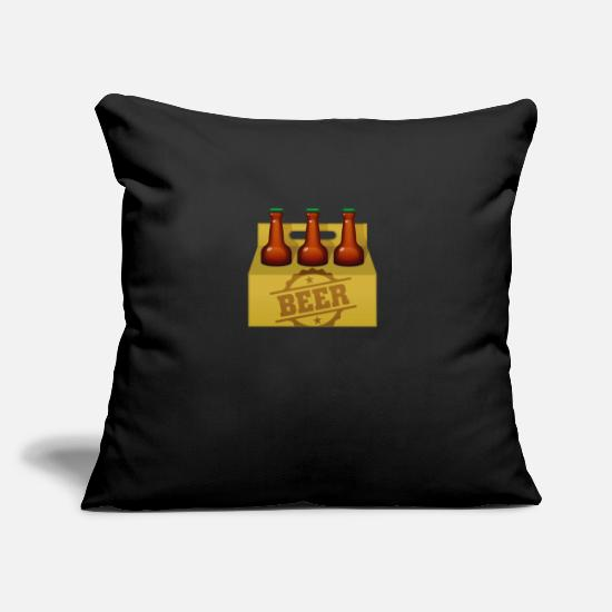 Symbol  Pillow Cases - A Six-pack Of Beer Bottles - Pillowcase 17,3'' x 17,3'' (45 x 45 cm) black