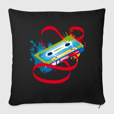 Music cassette graffiti - Sofa pillow cover 44 x 44 cm