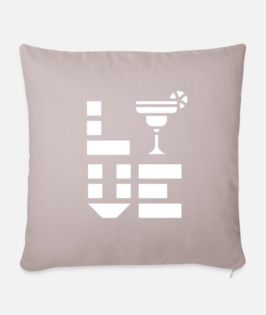 Wine Pillow Cases - Drinking Coctails - Pillowcase 17,3'' x 17,3'' (45 x 45 cm) light taupe