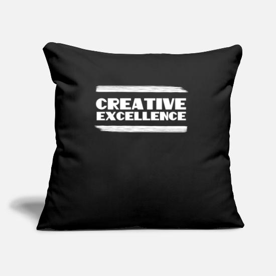 College Pillow Cases - Empowerment Excellence Tshirt Design CREATIVE EXCELLENCE - Pillowcase 17,3'' x 17,3'' (45 x 45 cm) black