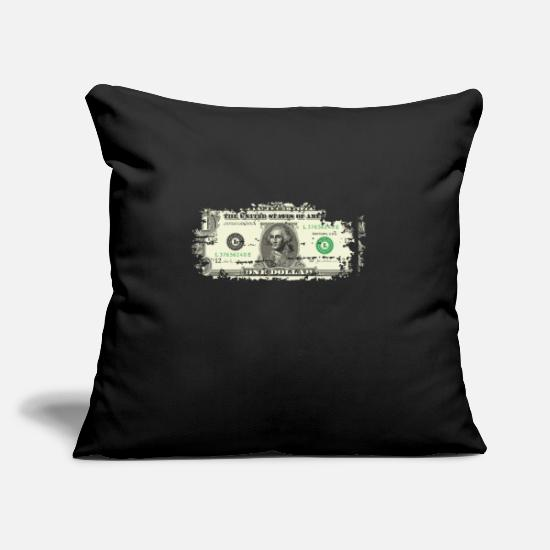 Bill Pillow Cases - Dollar dollar bill dollar bill - Pillowcase 17,3'' x 17,3'' (45 x 45 cm) black