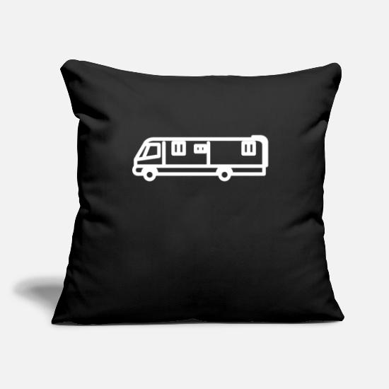 Camper Pillow Cases - caravan - Pillowcase 17,3'' x 17,3'' (45 x 45 cm) black