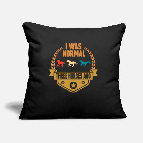 Horse Racing Pillow Cases - horse - Pillowcase 17,3'' x 17,3'' (45 x 45 cm) black