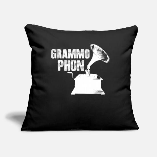 Gramophone Pillow Cases - gramophone - Pillowcase 17,3'' x 17,3'' (45 x 45 cm) black