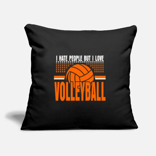 Gift Idea Pillow Cases - Volleyball Team Sport Hobby Gift - Pillowcase 17,3'' x 17,3'' (45 x 45 cm) black