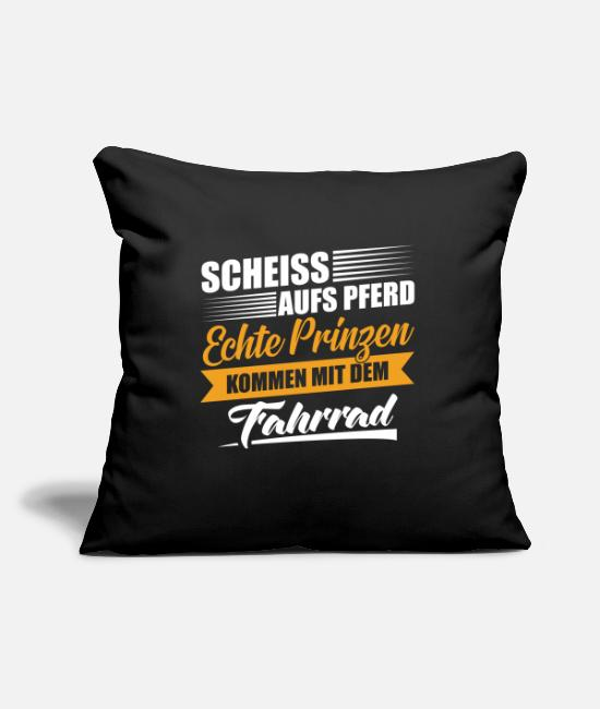 Witty Pillow Cases - Bicycle witty saying - Pillowcase 17,3'' x 17,3'' (45 x 45 cm) black