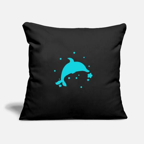 Animal Rights Activists Pillow Cases - Dolphin - Dolphin - Pillowcase 17,3'' x 17,3'' (45 x 45 cm) black