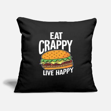Hamburg Burger happy - Pillowcase 17,3'' x 17,3'' (45 x 45 cm)