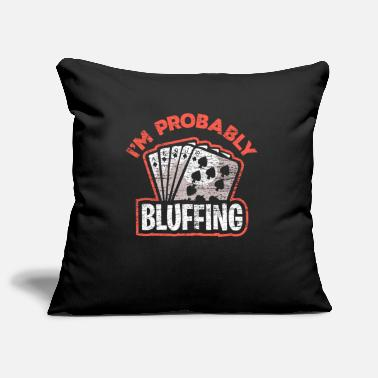 Bluff Poker bluff - Pillowcase 17,3'' x 17,3'' (45 x 45 cm)