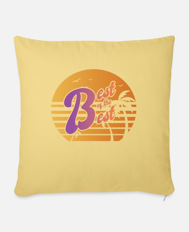 The Best Of Pillow Cases - Best of the Best For the best of the best - Pillowcase 17,3'' x 17,3'' (45 x 45 cm) washed yellow