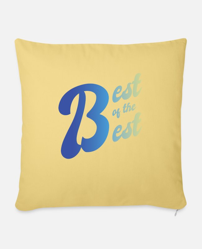 Grandpa Pillow Cases - Best of the Best For the best of the best - Pillowcase 17,3'' x 17,3'' (45 x 45 cm) washed yellow