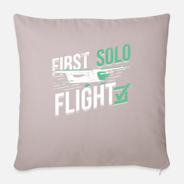Flight School First solo flight flight school student pilot gift - Pillowcase 17,3'' x 17,3'' (45 x 45 cm)