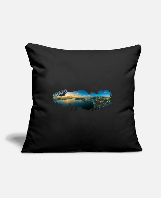 Usa Pillow Cases - Miami Florida Splash - Pillowcase 17,3'' x 17,3'' (45 x 45 cm) black