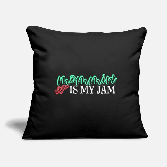Atractivo Fundas para cojines - Mommin Is My Jam Gift Mom Mother Día de la Madre a - Funda de cojín negro