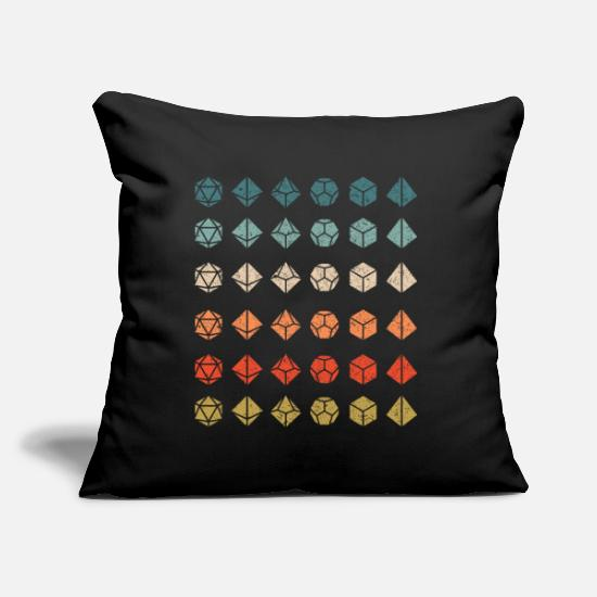 Dungeons And Dragons Pillow Cases - Dice D20 Dungeon Dragon Gamer Gift Retro - Pillowcase 17,3'' x 17,3'' (45 x 45 cm) black