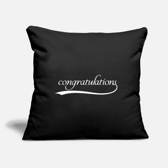 Congratulations Pillow Cases - Congratulations - Pillowcase 17,3'' x 17,3'' (45 x 45 cm) black