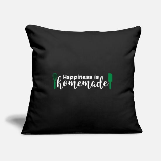 Birthday Pillow Cases - Happiness Is Homemade Gift Happiness - Pillowcase 17,3'' x 17,3'' (45 x 45 cm) black