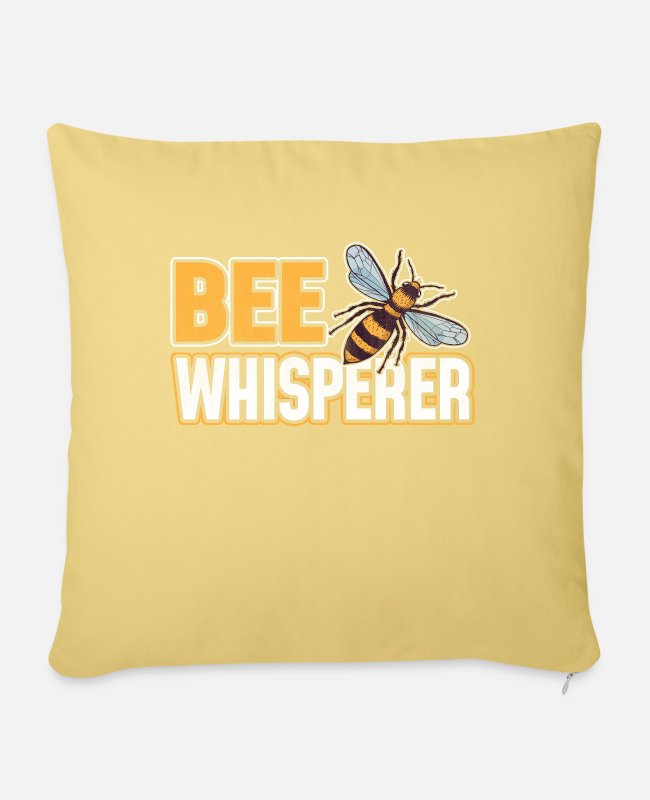 Honey Pillow Cases - Beekeeper bees bee honey bee bees - Pillowcase 17,3'' x 17,3'' (45 x 45 cm) washed yellow