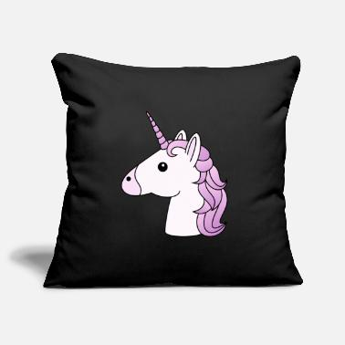 Lilac Unicorn head in lilac - Pillowcase 17,3'' x 17,3'' (45 x 45 cm)