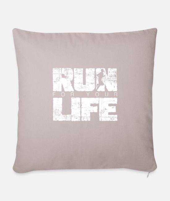 Idea Pillow Cases - Sports - Pillowcase 17,3'' x 17,3'' (45 x 45 cm) light taupe