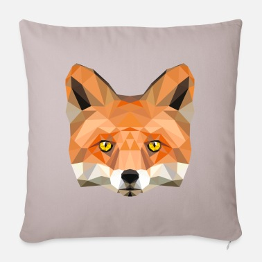 Fuchskop Fuchs Kopf Poly Füchsin fox Illustration low poly - Kissenhülle