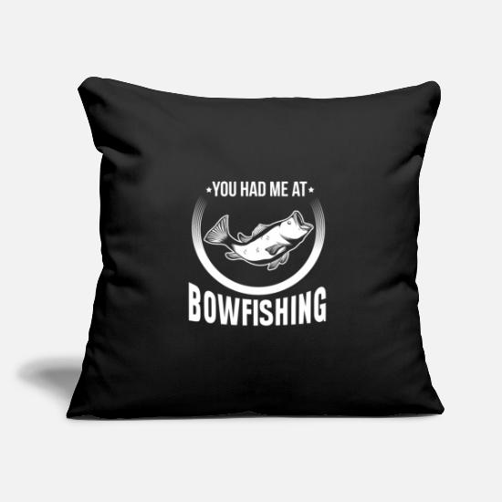Arrow And Bow Pillow Cases - Bowfisher Gift - Bow Fishing Bow Fishing - Pillowcase 17,3'' x 17,3'' (45 x 45 cm) black