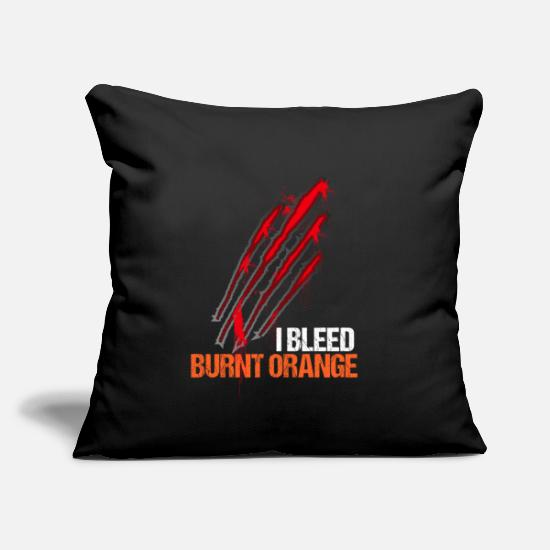Claw Pillow Cases - I bleed burnt orange. Halloween bloody scratches - Pillowcase 17,3'' x 17,3'' (45 x 45 cm) black
