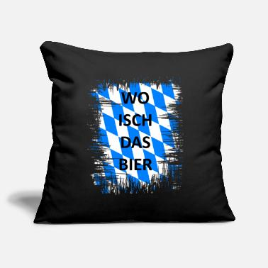 Upper Bavaria Where is the beer - Oktoberfest gift Upper Bavaria - Pillowcase 17,3'' x 17,3'' (45 x 45 cm)