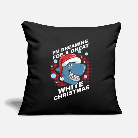 Shark Pillow Cases - Hai Weiß Weihnachten Tier Geschenkidee - Pillowcase 17,3'' x 17,3'' (45 x 45 cm) black