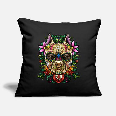Dogs Pit Bull Sugar Skull - Dias De Los Muertos | dog - Pillowcase 17,3'' x 17,3'' (45 x 45 cm)