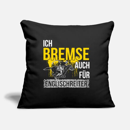 Gift Idea Pillow Cases - Western rider Western riding horse equitation - Pillowcase 17,3'' x 17,3'' (45 x 45 cm) black