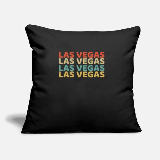 Las Vegas Pillow Cases - Las Vegas retro - Pillowcase 17,3'' x 17,3'' (45 x 45 cm) black