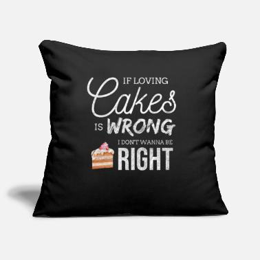 Funny Cake Cupcake Baking Bake Pies Pastry Sweet Gift - Pillowcase 17,3'' x 17,3'' (45 x 45 cm)
