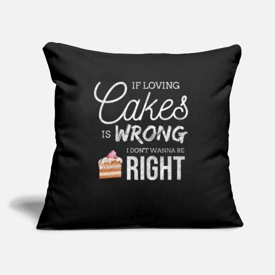 Funny Pillow Cases - Cake Cupcake Baking Bake Pies Pastry Sweet Gift - Pillowcase 17,3'' x 17,3'' (45 x 45 cm) black