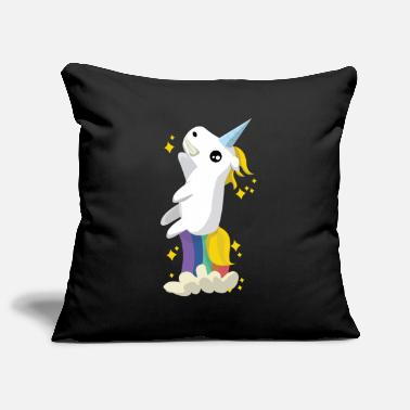 Unicorn pupst rainbow - Sofa pillow cover 44 x 44 cm