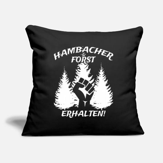 Megaphone Pillow Cases - Hambacher Forst received! - Pillowcase 17,3'' x 17,3'' (45 x 45 cm) black