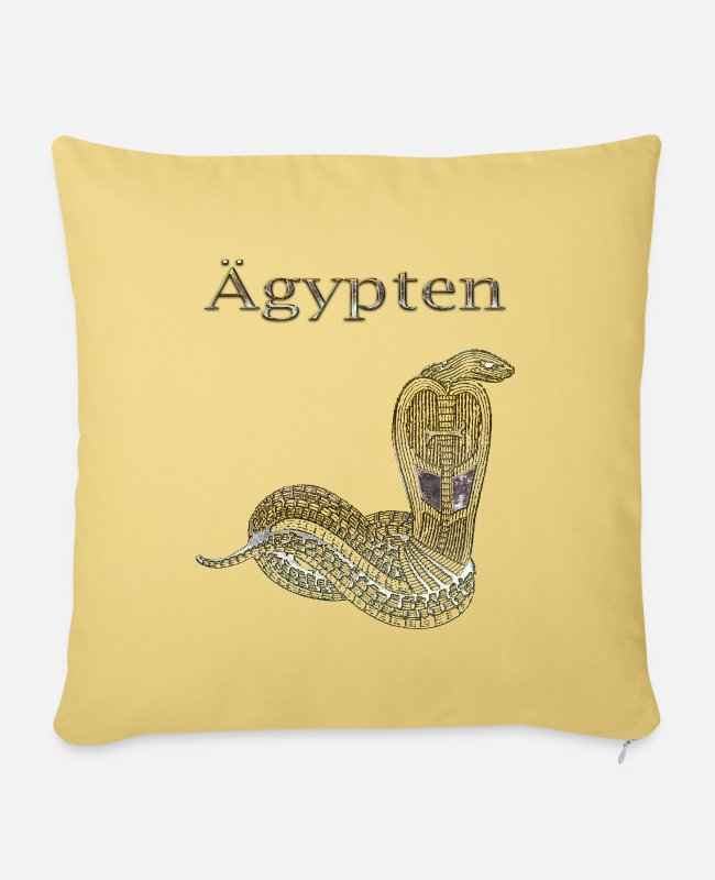Cobra Pillow Cases - Egypt 115 - Pillowcase 17,3'' x 17,3'' (45 x 45 cm) washed yellow
