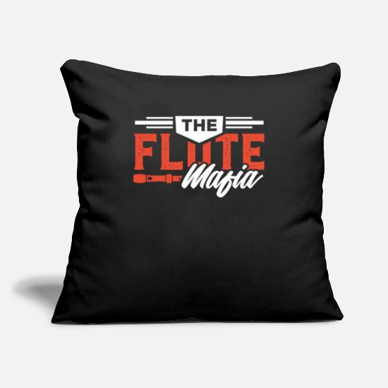 Birthday Pillow Cases - Flute Player Flutist Marching Band Instrument Gift - Pillowcase 17,3'' x 17,3'' (45 x 45 cm) black