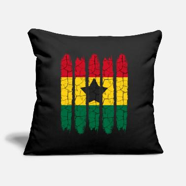National Cadeau national Accra moderne Ghana National Colors - Housse de coussin décorative 44 x 44 cm