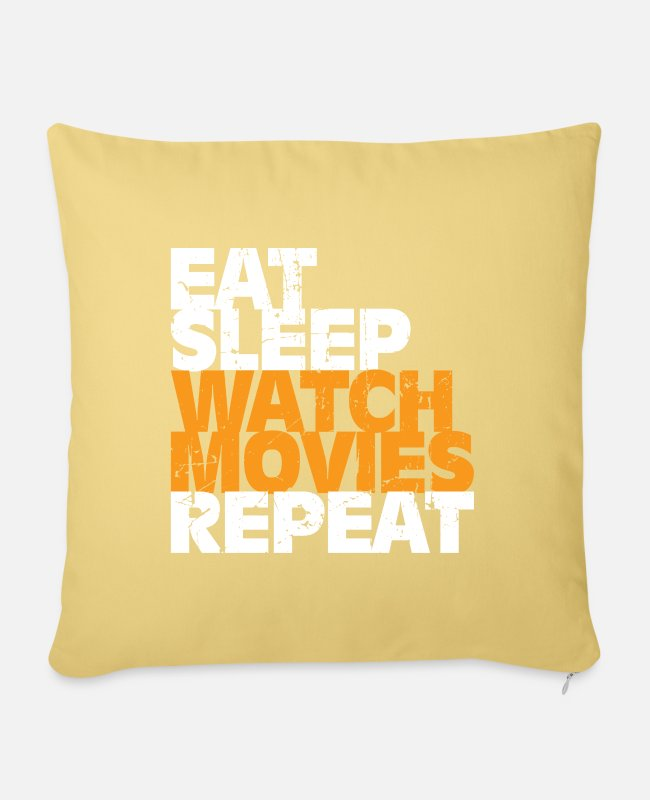 Movie Pillow Cases - Movie gift movies movie role - Pillowcase 17,3'' x 17,3'' (45 x 45 cm) washed yellow