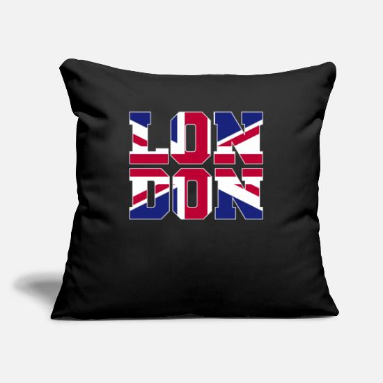 London Pillow Cases - Bronntanas Tír Londain - Pillowcase 17,3'' x 17,3'' (45 x 45 cm) black