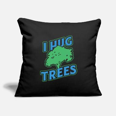 I hug trees Funny tree shirt for nature lovers - Pillowcase 17,3'' x 17,3'' (45 x 45 cm)