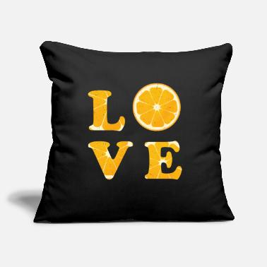 B Dag Love Orange Fruit Typography Vegetable Gift Idea - Sierkussenhoes, 44 x 44 cm
