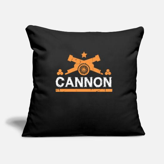 Birthday Pillow Cases - Cannon gift cannonball fortress - Pillowcase 17,3'' x 17,3'' (45 x 45 cm) black