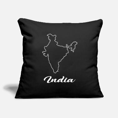 Map India Map Map - Pillowcase 17,3'' x 17,3'' (45 x 45 cm)