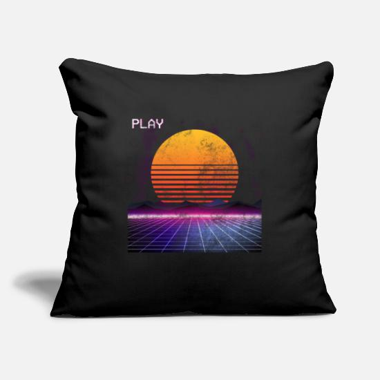 80s Pillow Cases - 80s retro - Pillowcase 17,3'' x 17,3'' (45 x 45 cm) black