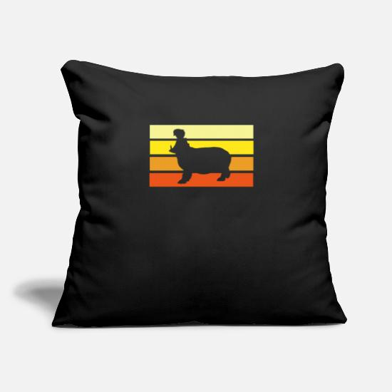 Gift Idea Pillow Cases - hippo - Pillowcase 17,3'' x 17,3'' (45 x 45 cm) black
